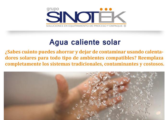 Agua caliente solar grupo sinotek - Agua caliente solar ...