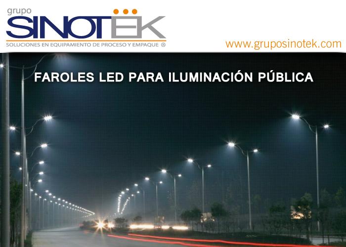 Faroles Led Para Iluminaci N P Blica Grupo Sinotek
